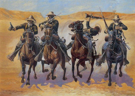 10th US Calvary in Pursuit by Bobb Vann