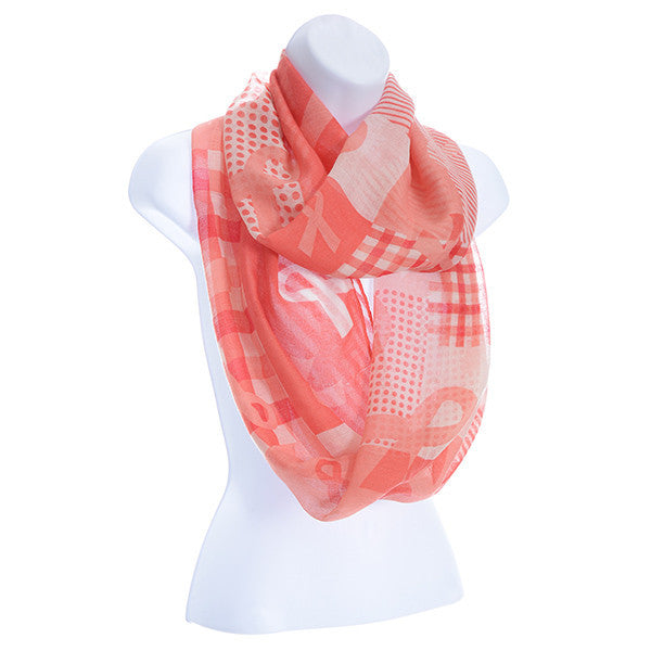 Breast Cancer Awarness Oversized Scarf by Judson and Company