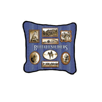 Buffalo Soldier Tapestry Throw Pillow