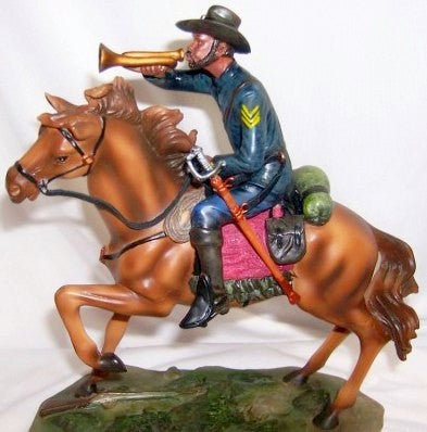 Buffalo Soldier with Bugle (Hand Painted) by the American Heritage Collection