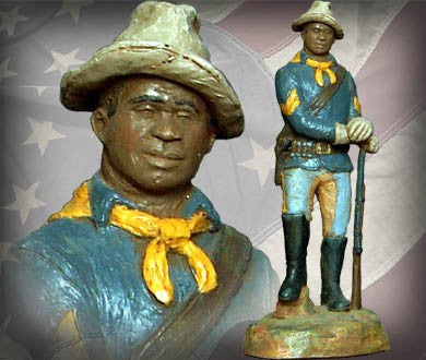 Buffalo Soldier Corporal (Hand Painted) by Micheal Garman