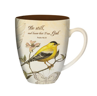 Gold Finch & Butterfly Mug