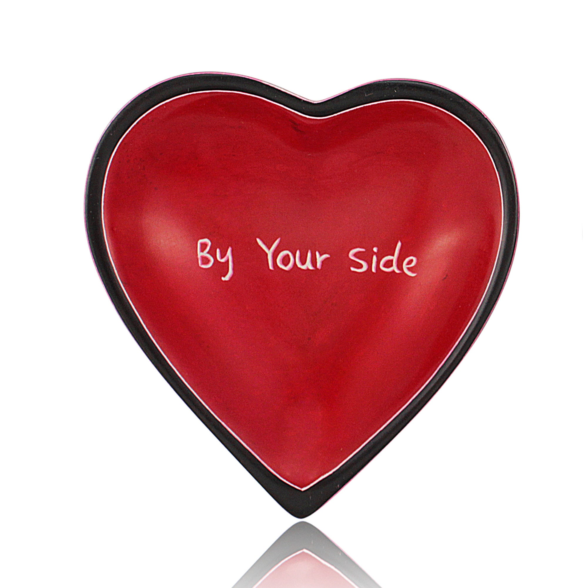 By Your Side Heart Shaped Soap Stone Dish by Venture Imports