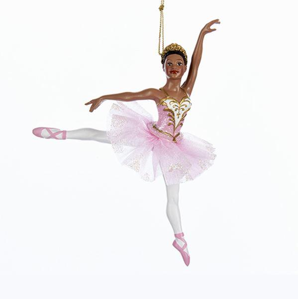 african american glittered ballerina christmas ornament by