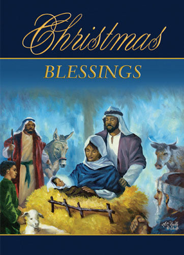 In the Stable: African American Christmas Card