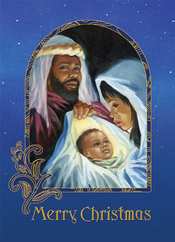 Merry Christmas (Nativity): African American Christmas Card