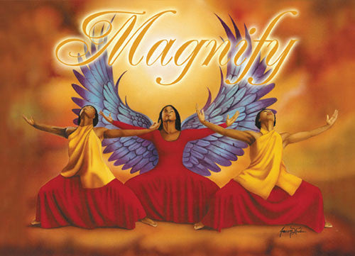 Magnify: African American Christmas Card