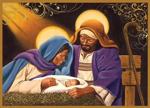 Nativity: African American Christmas Card