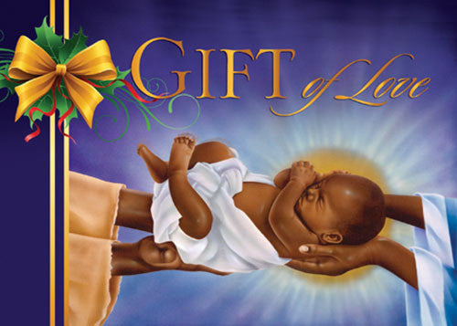 Gift Of Love Baby Jesus African American Christmas Card