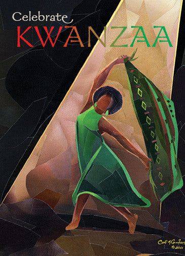 Celebrate Kwanzaa: Kwanzaa Greeting Card Box Set by Carl M. Crawford (Front)