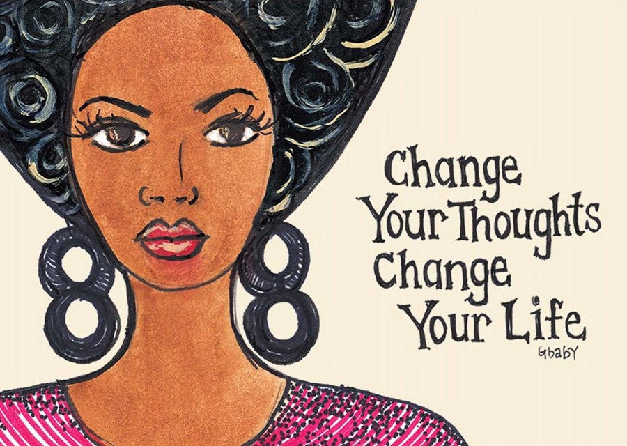 "Change Your Thoughts, Change Your Life Magnet by Syliva ""Gbaby"" Cohen"