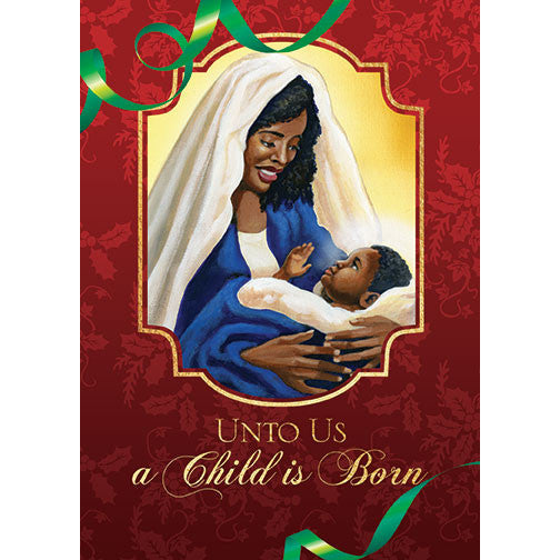 Child is Born: African American Christmas Card