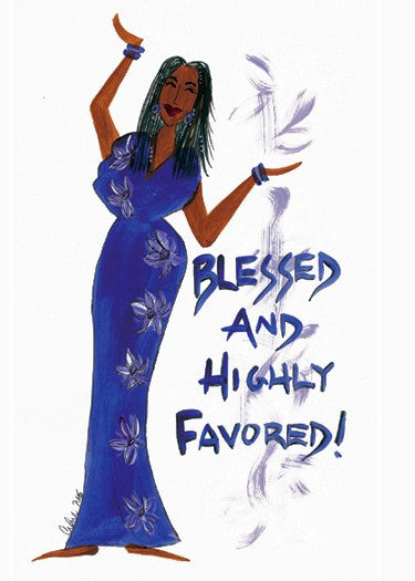Blessed and Highly Favored Magnet by Cidne Wallace