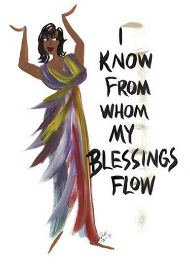 I Know From Whom My Blessings Flow Magnet by Cidne Wallace