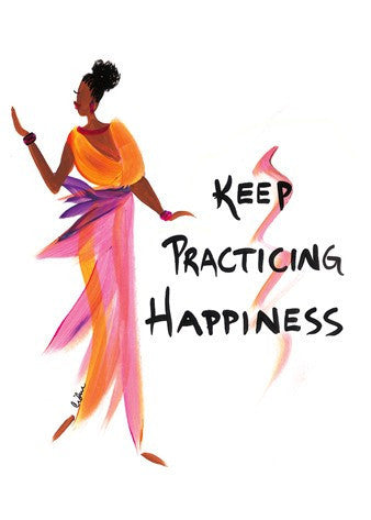 Keep Practicing Happiness Magnet by Cidne Wallace