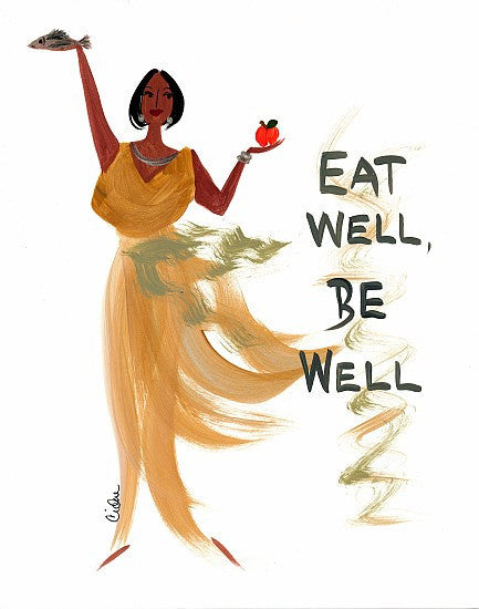 Eat Well be Well Magnet by Cidne Wallace