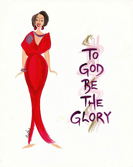 To God Be The Glory Magnet by Cidne Wallace