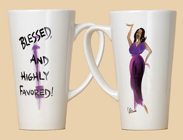 Blessed and Highly Favored Mug by Cidne Wallace