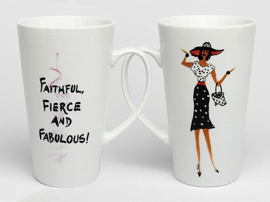 Faithful, Fierce and Fabulous Mug by Cidne Wallace