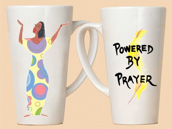 Powered By Prayer Mug is a Cidne Wallace