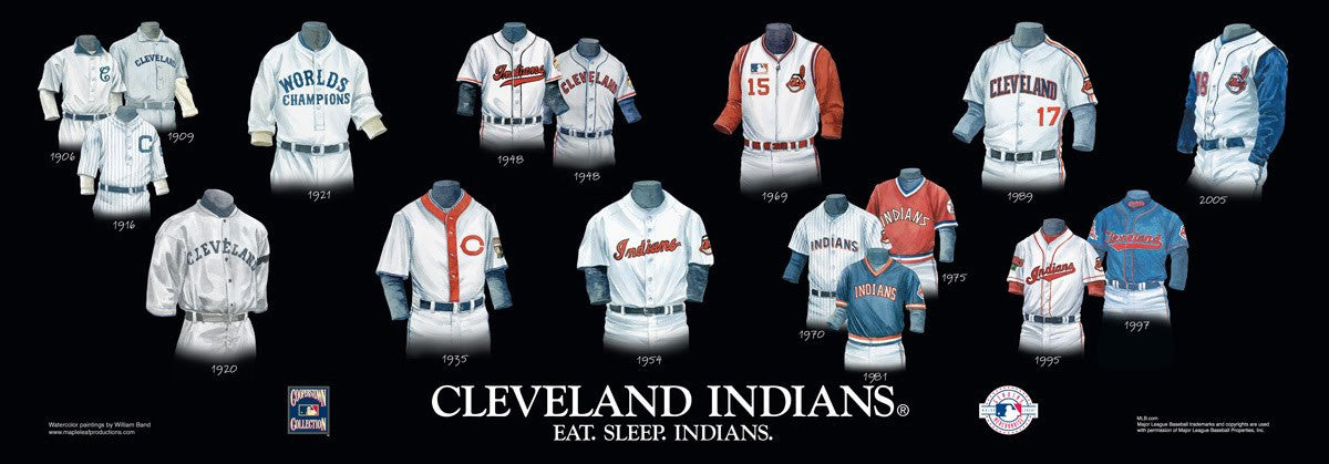 Cleveland Indians: Eat. Sleep. Indians Poster by Nola McConnan and William Band