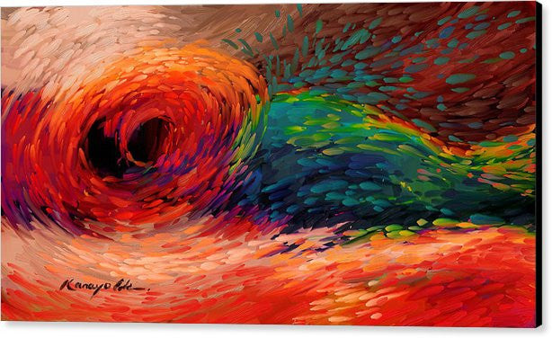 Colored Waves: Furious Red by Kanayo Ede (Abstract Canvas Art)