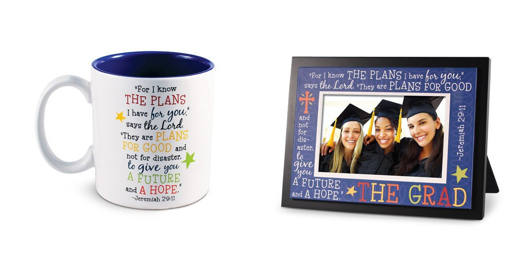 Colorful Graduation Photo Frame and Mug by Lighthouse Christian Products