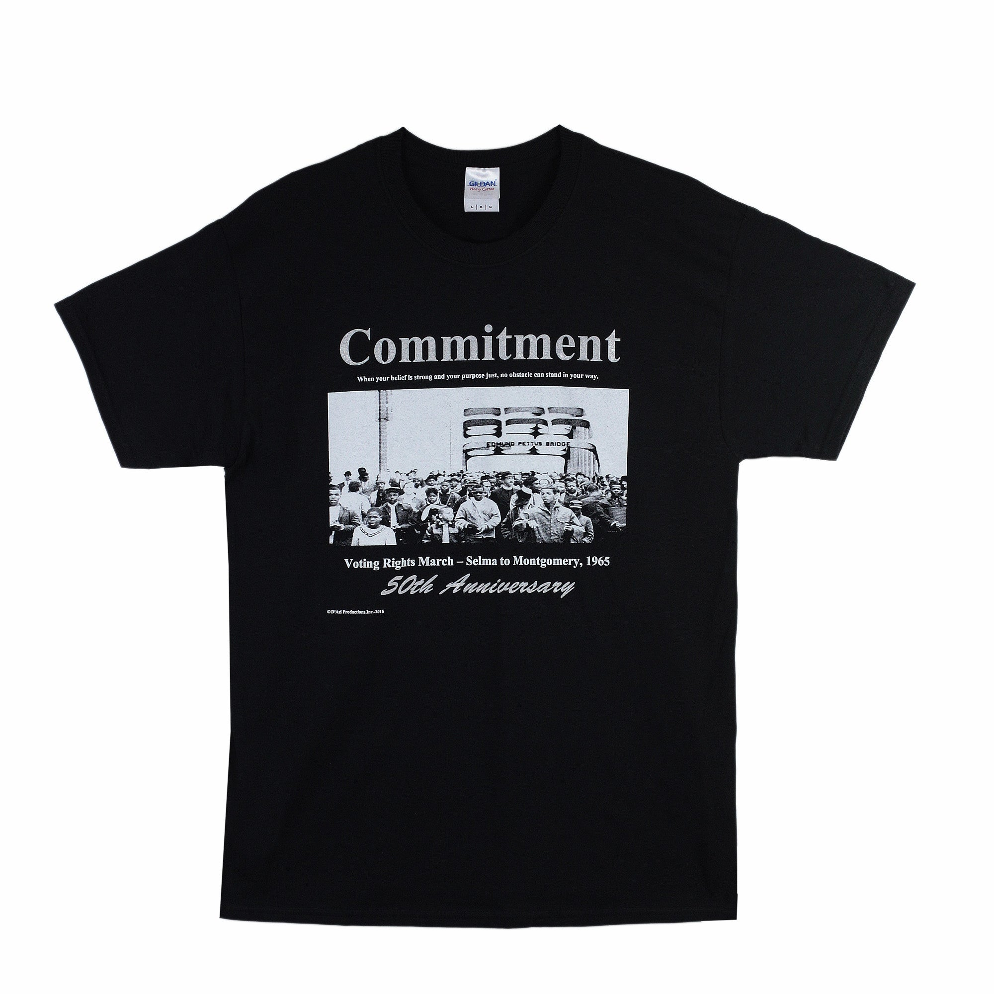 Commitment: African American Motivational T-Shirt by D'azi Productions