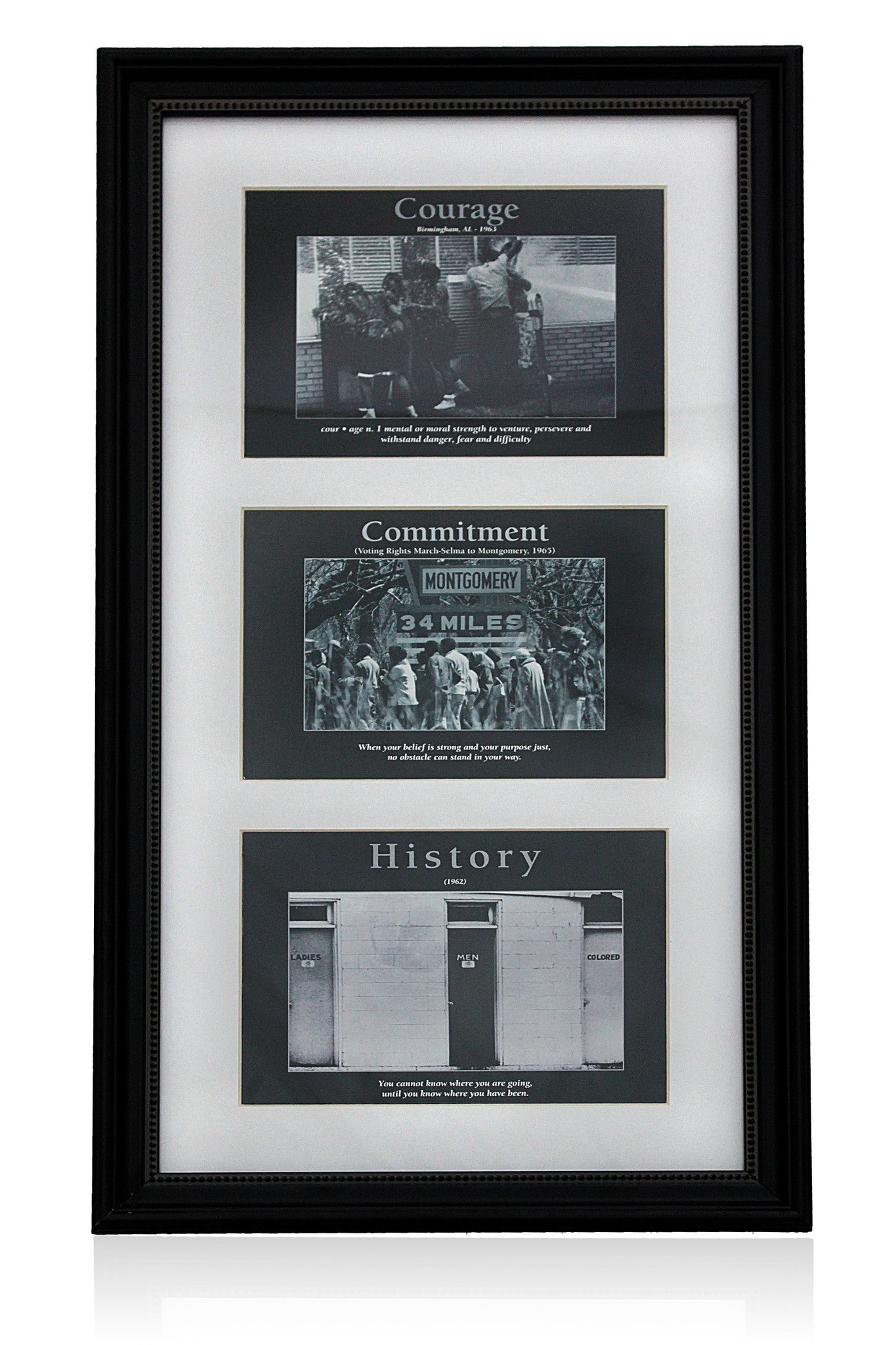 Courage, Commitment and History by D'azi Productions (Black Frame)