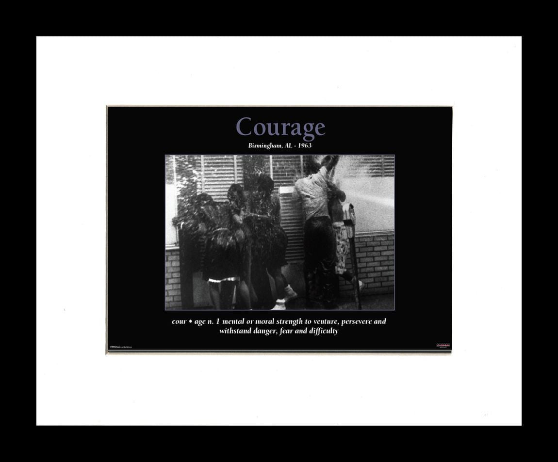 Courage (Birmingham Campaign) by D'azi Productions (Black Frame)