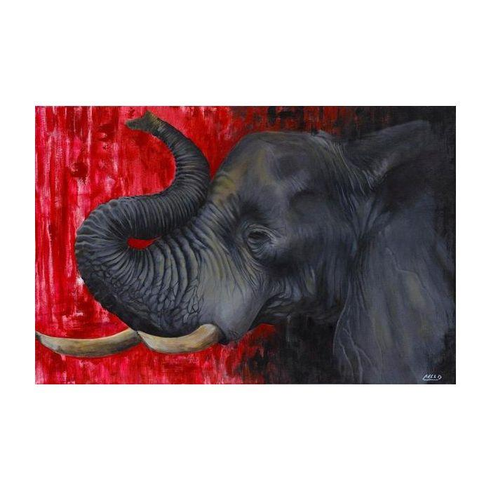 "Crimson Elephant by Cecil ""CREED"" Reed (Delta Sigma Theta Inspired)"