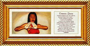 Crimson Queen by Shahidah and Fred Mathews (Gold Rope Frame)