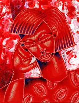 "Crimson Queen (Delta Sigma Theta) by Larry ""Poncho"" Brown"