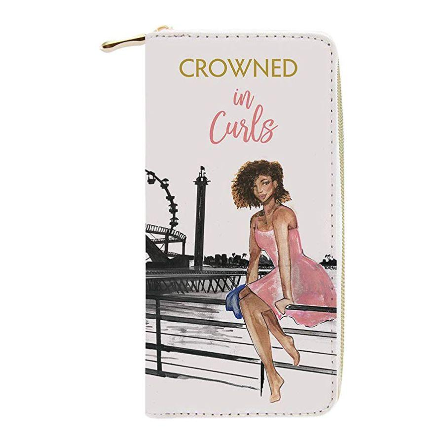 Crowned in Curls: African American Women's Wallet/Clutch by Nicholle Kobi