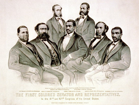 First Colored Senators and Representatives by Currier and Ives