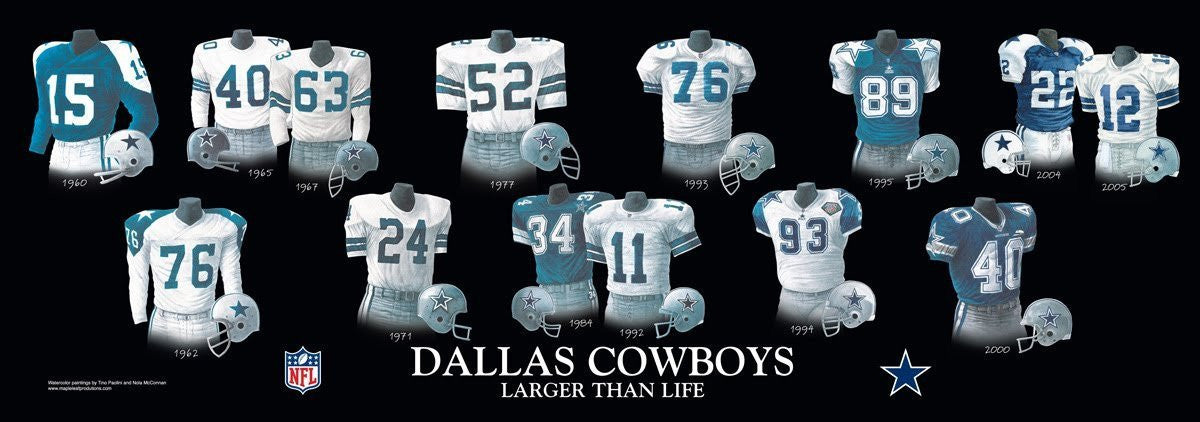 Dallas Cowboys: Larger Than Life Poster by Nola McConnan and Tino Paolini