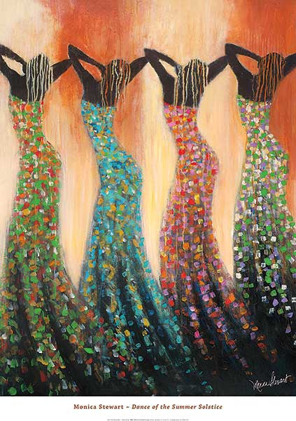 Dance of the Summer Solstice by Monica Stewart