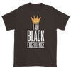 I Am Black Excellence Men's Short Sleeved T-Shirt (Chocolate)