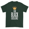 I Am Black Excellence Men's Short Sleeved T-Shirt (Green)
