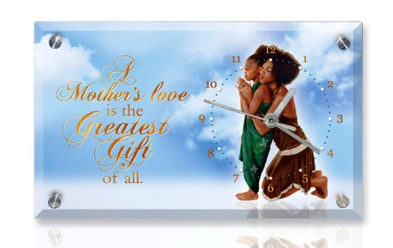 A Mother's Love Desk Clock
