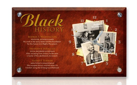 Black History Desk Clock