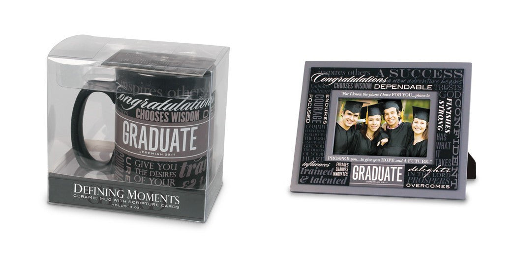 Graduation Mug and Photo Frame Gift Set: Defining Moments Series by LCP Gifts