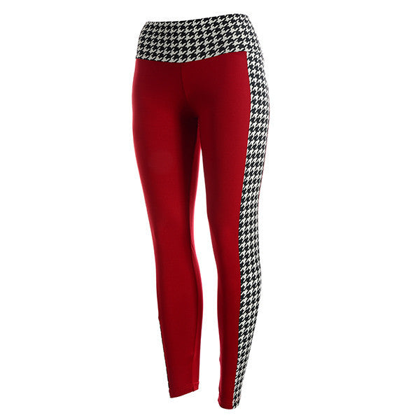 Delta Sigma Theta Inspired Crimson and Houndstooth Leggings by Judson and Company
