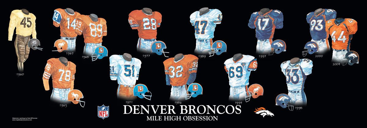 Denver Broncos: Mile High Obsession Poster by Nola McConnan