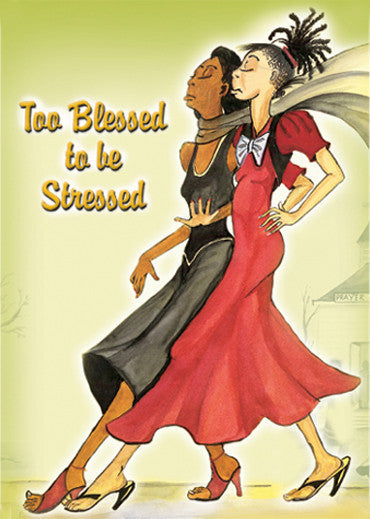 Too Blessed To Be Stressed III Magnet by Dorothy Allen