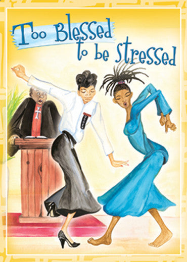 Too Blessed To Be Stressed V Magnet by Dorothy Allen