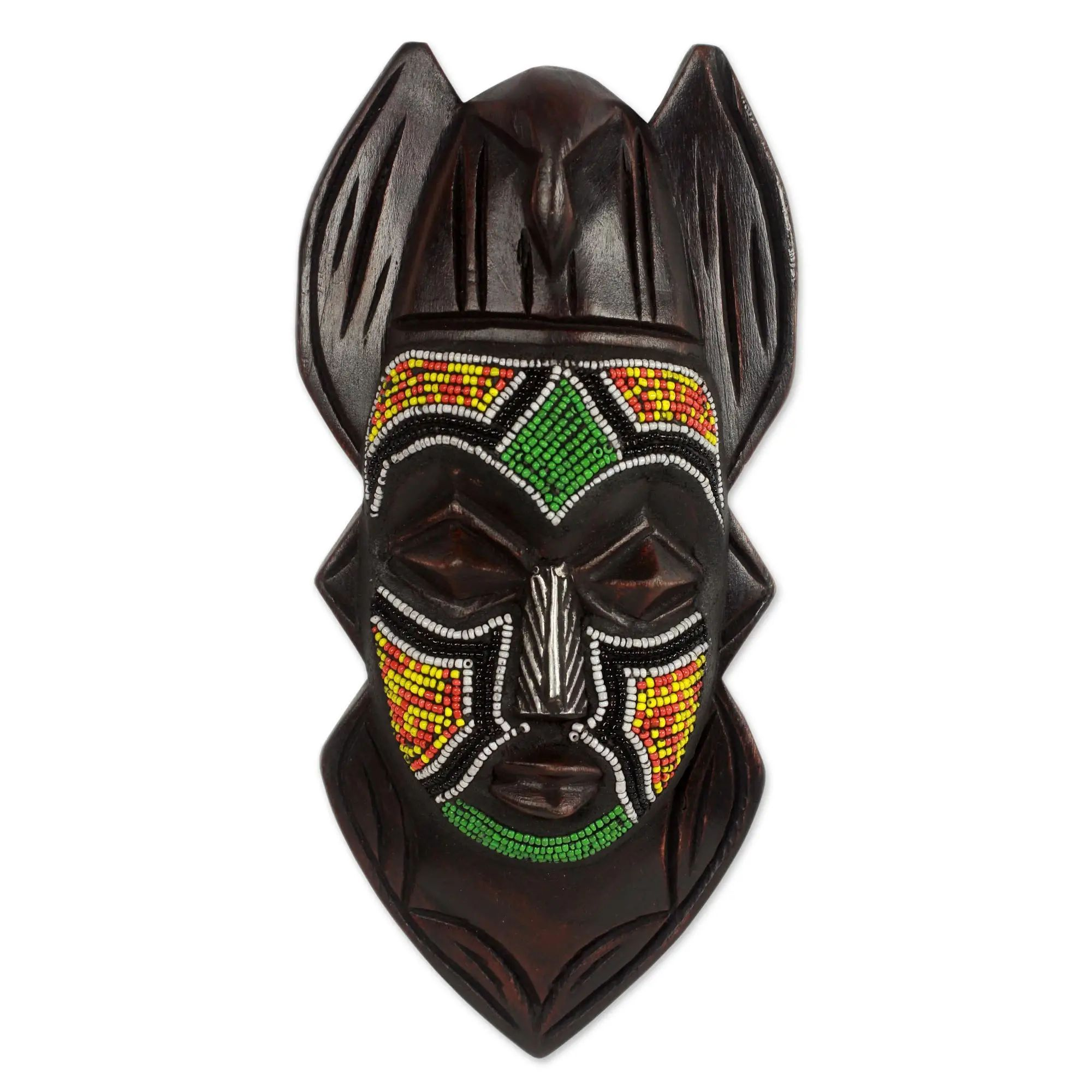 Authentic African Hand Made Dove Anoma Ba Mask by Awudu Saaed