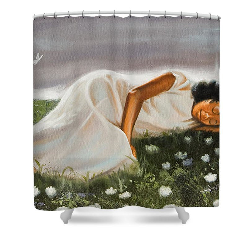 Dream On Shower Curtain by Jerome T. White
