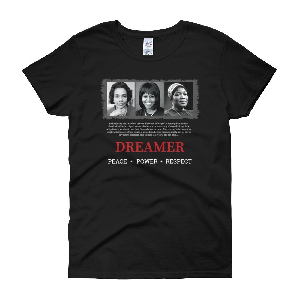 The Dreamer (Coretta Scott King, Michelle Obama and Betty Shabazz) T-Shirt by RBG Forever