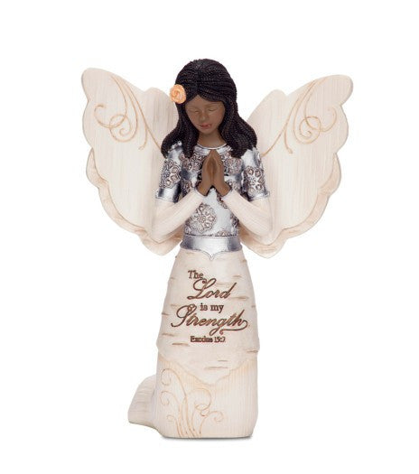 The Lord Is My Strength Angel: Ebony Elements Collection